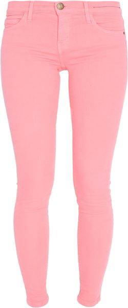 Current/Elliott Ankle Skinny Colored Jeans - Lyst