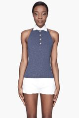 DSquared2 Navy and Gold Knot Halter Polo - Lyst