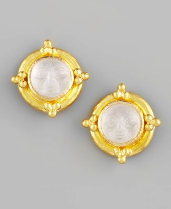 Elizabeth Locke Maninthemoon Intaglio Stud Earrings - Lyst