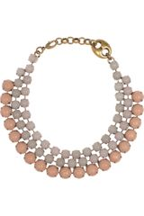 Gucci Goldplated Resin Necklace - Lyst