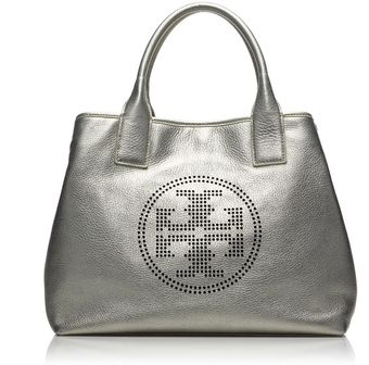 Tory Burch Small Perforated Logo Tote - Lyst