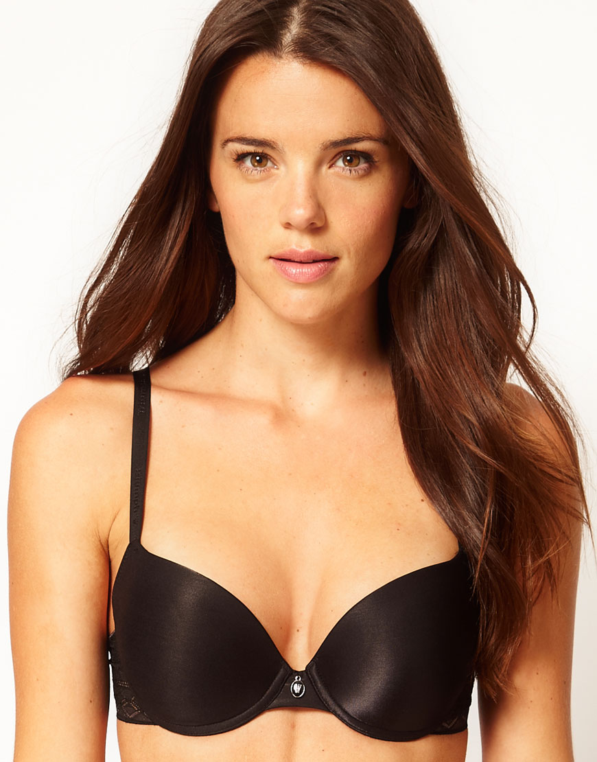 41f526dfa65e7 Lyst - Triumph Fabulous Sensation Push Up Padded Bra in Black