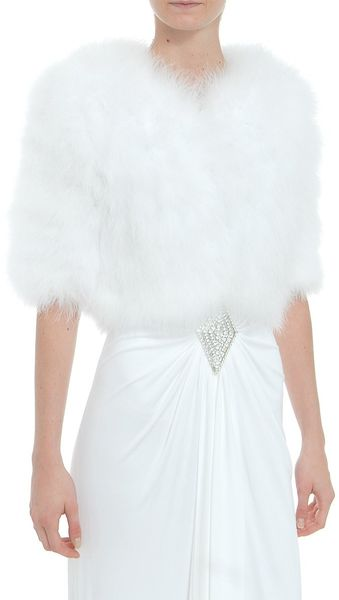 Azzaro Feather Bolero - Lyst