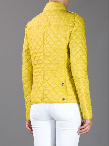 Burberry Brit Kencott Quilted Jacket In Yellow Lyst