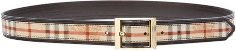 Burberry Bensham Belt in Brown (chocolate) - Lyst