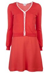 Carven Cardigan Dress - Lyst