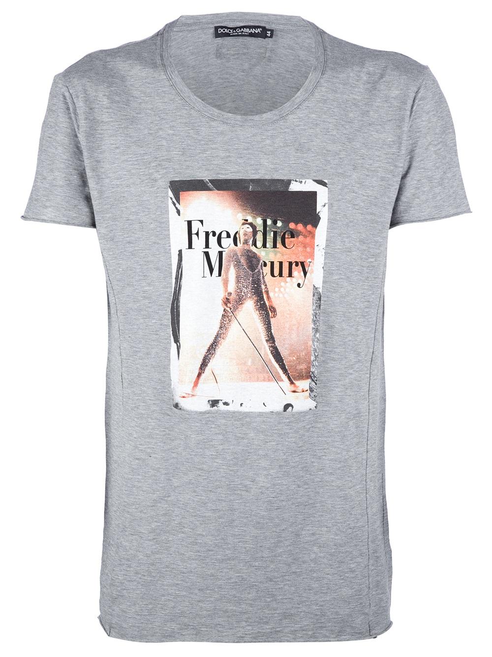 Dolce Gabbana Freddie Mercury T Shirt In Gray For Men