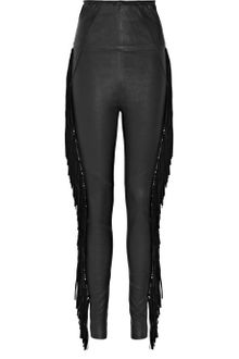 Isabel Marant Ponui Fringed Leather Leggings - Lyst