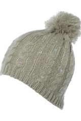 Jane Norman Pom Pom Sequin Hat - Lyst