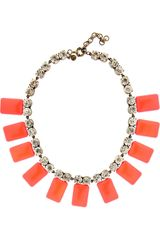 J.Crew Crystal and Resin Tile Necklace - Lyst