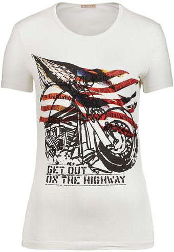 John Galliano Short Sleeve Tee - Lyst