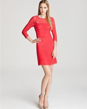 Laundry By Shelli Segal Dress Tiered Lace - Lyst