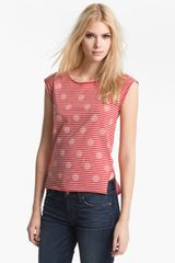 Marc By Marc Jacobs Willa Dot Stripe Tank - Lyst