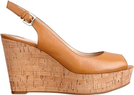 Nine West Chabon Sanda in Brown (NATURAL LEATHER)