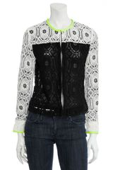 Scoop Lace Colorblock Jacket