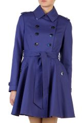 Ted Baker Moriah Double Breasted Coat in Purple - Lyst