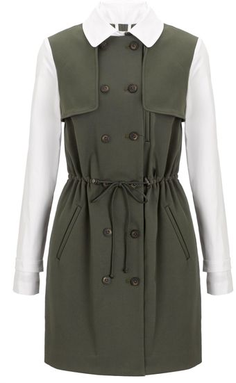 Thakoon Addition Khaki Drawstring Trench - Lyst