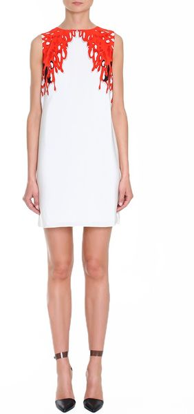 Tibi Coral Sleeveless Dress - Lyst