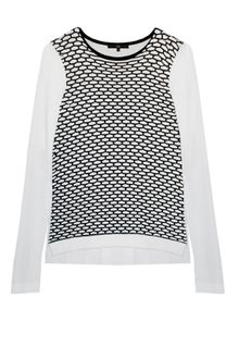Tibi Sporty Mesh Easy Sweater - Lyst