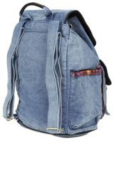 Topshop Aztec Acid Wash Backpack in Blue (black) - Lyst
