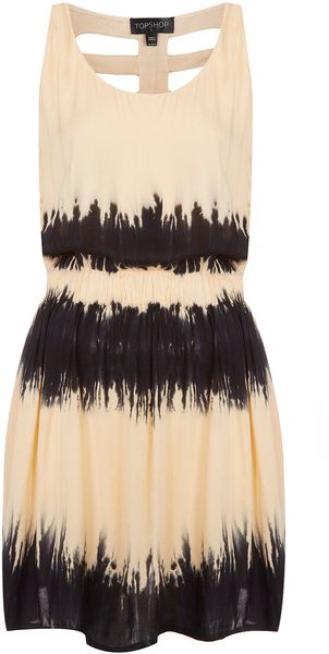 Topshop Black Tie Dye Cage Cover Up - Lyst