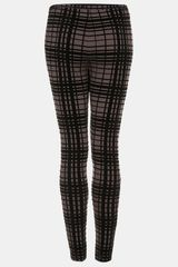 Topshop Plaid Velvet Leggings - Lyst