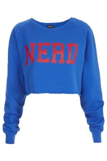 Topshop Nerd Crop Sweat - Lyst