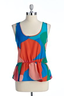 Vince Camuto Colorblocked Sleeveless Top - Lyst