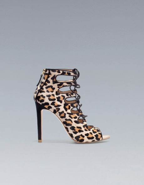 Zara Leopard Sandals Uk 49