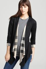 Burberry Brit Waterfall Reversible Cardigan - Lyst
