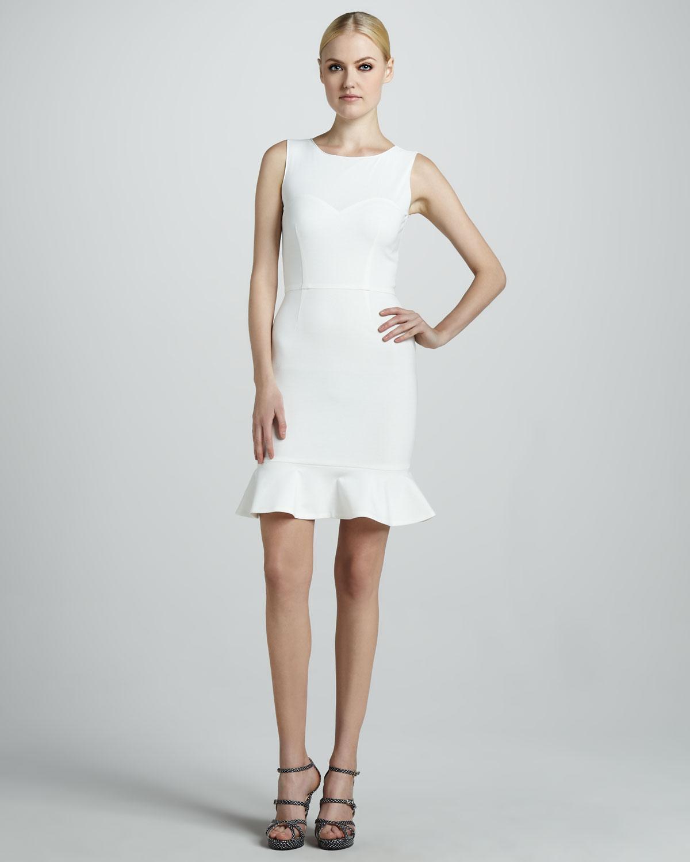 33fff13dff6 Erin Fetherston Sleeveless Flounce Dress in White - Lyst