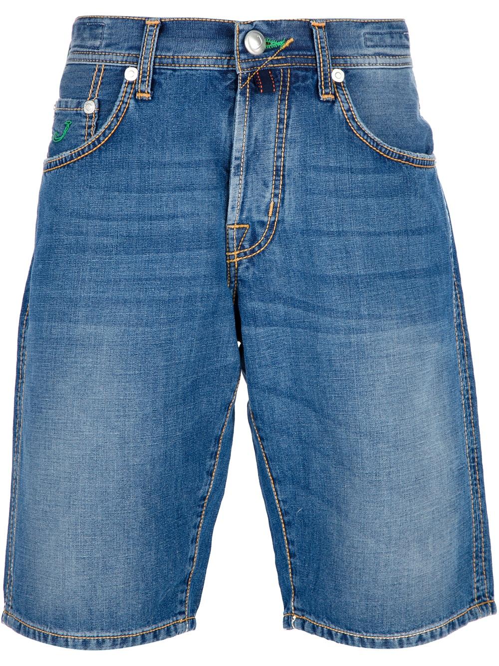 Jacob cohen denim bermuda shorts in blue for men denim - Jacob cohen denim ...