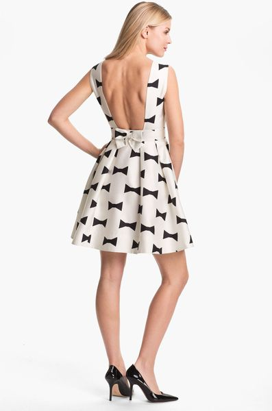 Kate Spade Marilyn Fit Flare Dress In White Clotted Cream