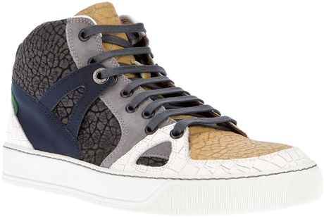 Lanvin Colour Panelled Sneaker in White for Men - Lyst