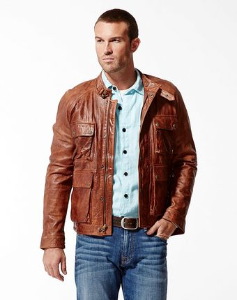 Lucky Brand Bronson Leather Jacket - Lyst
