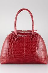 Nancy Gonzalez Crocodile Medium Bowler Bag - Lyst