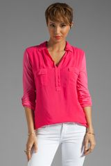 Splendid Shirting Collar Top - Lyst