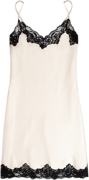 Stella McCartney Ruby Snoozing Stretch Silk and Lace Chemise - Lyst