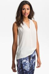 Vince Camuto Sleeveless V-Neck Blouse - Lyst