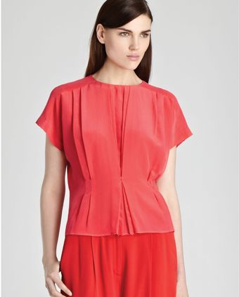 Reiss Top Penny Short Sleeve Tuck Front - Lyst