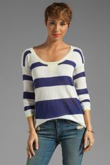 Splendid Yacht Stripe Sweater - Lyst