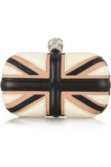 Alexander McQueen The Britannia Skull Leather Box Clutch - Lyst