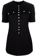 Balmain Military Button Tshirt
