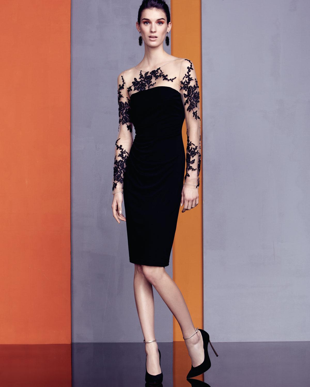 Illusion lace cocktail dress – Dresses buy shop