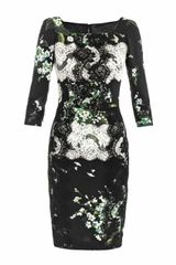 Dolce & Gabbana Lily Of The Valley Print Fitted Dress - Lyst