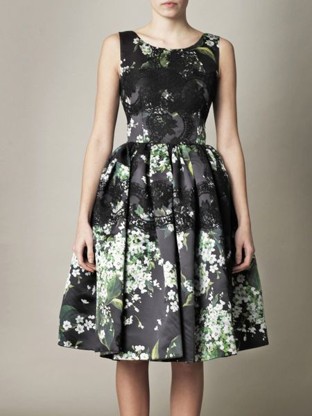 Dolce Amp Gabbana Lily Of The Valley Print Prom Dress In