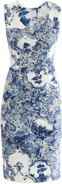 Erdem Trina Milandes Print Fitted Dress - Lyst