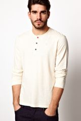 Pepe Jeans Long Sleeve Top Slim Fit Grandad - Lyst