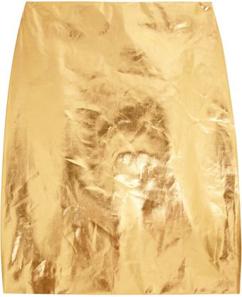 Simone Rocha Metallic Coated Cottonblend Pencil Skirt - Lyst