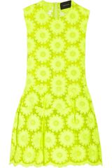 Simone Rocha Neon Embroidered Organza Dress - Lyst